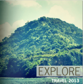 The cover I created for my travel 2013 book, which features a bunch of images from my BF & I's trips this year.